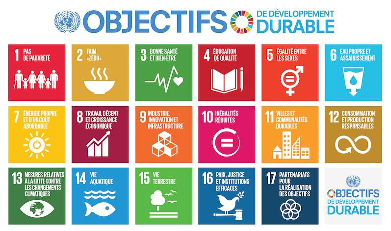 Les 17 Objectifs de Développement Durable à l'horizon 2030