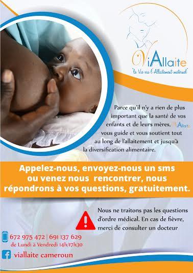 Plaquette Viallaite pour encourager l'allaitement au Cameroun