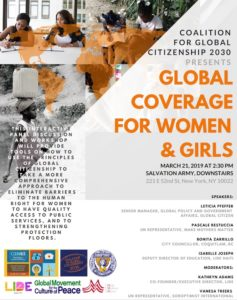 CSW56 Parallel event - Global coverage for women and girls